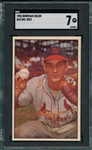 1953 Bowman Color #53 Del Rice SGC 7