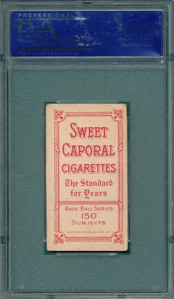 1909-1911 T206 Lajoie, Throwing, Sweet Caporal Cigarettes PSA 4