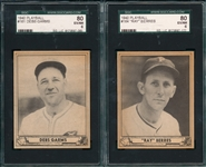 1940 Play Ball #161 Debs Garms & #164 Ray Berres, Lot of (2), *Superman* SGC 80