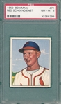 1950 Bowman #71 Red Schoendienst PSA 8 *SP*