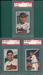 1951 Bowman #150 Garcia, #296 Kennedy & #295 Lopez, Lot of (3) PSA  *Hi #*
