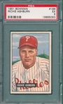 1951 Bowman #186 Richie Ashburn PSA 5