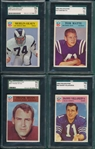 1966 Philadelphia Lot of (8) SGC W/ #102 Merlin Olsen