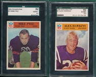 1966 Philadelphia Lot of (6) SGC 82 W/ #6 Hawkins