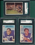 1966 Philadelphia Lot of (5) SGC 82 W/ #23 Jim Parker