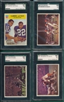 1966 Philadelphia Lot of (4) SGC 84 W/ #94 Gabriel & Bass