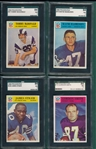 1966 Philadelphia Lot of (4) SGC 84 W/ #97 Tommy McDonald