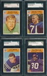 1966 Philadelphia Lot of (4) SGC 84 W/ #7 Heck