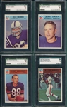 1966 Philadelphia Lot of (4) SGC 84 W/ #15 Ray Berry
