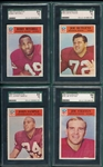 1966 Philadelphia Lot of (4) SGC 84 W/ #187 Bobby Mitchell