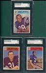1966 Philadelphia Lot of (3) SGC 86 W/ #18 John Mackey