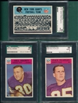 1966 Philadelphia Lot of (3) SGC 88 W/ #107 Bill Brown