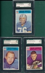 1966 Philadelphia Lot of (3) SGC 92 W/ #67 Roger Brown
