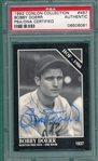 1992 Conlin Collection #467 Bobby Doerr, Autographed, PSA Authentic