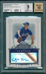 2006 Bowman Sterling #CK Clayton Kershaw, Prospects, BGS 9, Autograph BGS 10