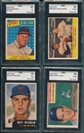 1953-58 Topps Lot of (4) HOFers W/ 58 Musial SGC