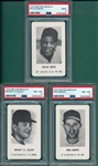 1970 Milton Bradley Game, Lolich, Santo & Mays, Lot of (3), PSA
