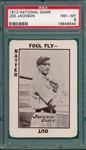 1913 WG5 National Game Joe Jackson PSA 8