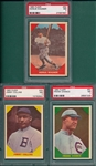 1960 Fleer Baseball Greats #25 Jimmy Collins, #50 Chance, & Wagner Lot of (3) PSA 7