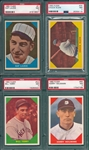 1960 Fleer Baseball Greats Lot of (4) W/ Lajoie, PSA 7