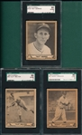 1940 Play Ball #83 Melton, #97 Arnovich, & #164 Berres, Lot of (3), SGC 80