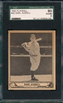 1940 Play Ball #046 Earl Averill SGC 80