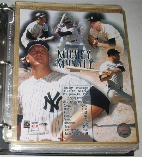 2006-8 Mickey Mantle Home Run History Complete W/ Wrappers, checklist & Game Used Bat Cards