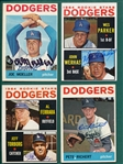 1964 Topps Lot of (10) Autographed Dodgers W/ Moeller