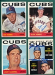 1964 Topps Lot of (10) Autographed Cubs W/ Hobbie