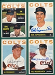 1964 Topps Lot of (10) Autographed Astros/Colts W/ Wynn