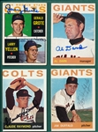 1964 Topps Lot of (10) Autographed Giants W/ Dark