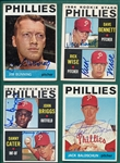 1964 Topps Lot of (13) Autographed Phillies W/ Bunning