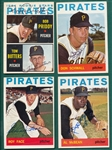 1964 Topps Lot of (18) Autographed Pirates W/ Schwall