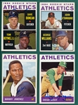 1964 Topps Lot of (15) Autographed Athletics W/ Jimenez