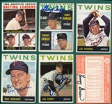 1964 Topps Lot of (16) Autographed Twins W/ Stange