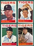 1964 Topps Lot of (14) Autographed Tigers W/ Lolich