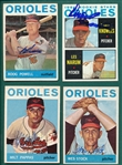 1964 Topps Lot of (12) Autographed Orioles W/ Powell
