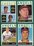 1964 Topps Lot of (16) Autographed Angels W/ Foiles