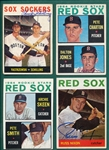 1964 Topps Lot of (13) Autographed Red Sox W/ Schilling