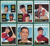 1964 Topps Lot of (13) Autographed Indians W/ Tommy John, Rookie