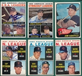 1964 Topps Lot of (15) Autographed W/ Leader Cards
