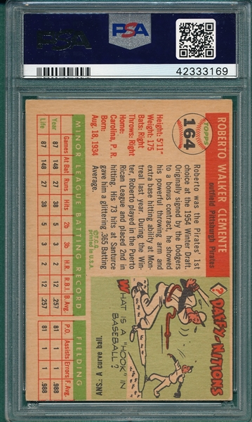 1955 Topps #164 Roberto Clemente PSA 4 *Rookie*