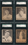 1940 Play Ball Lot of (4) W/ #184 Haas, *Hi #* *Superman* SGC 60