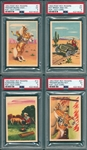 1953 Roy Rogers Pop-Out Cards, Lot of (8) PSA 5