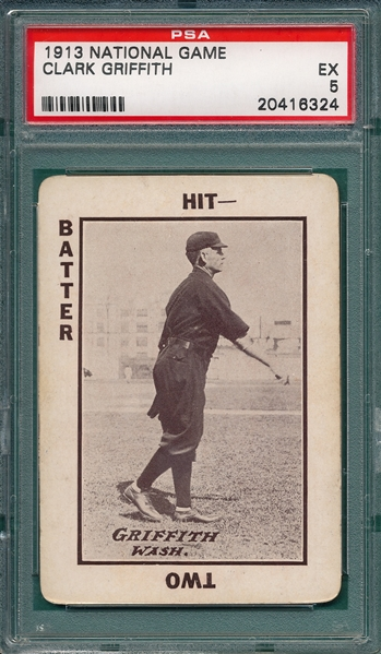 1913 WG5 National Game Griffith PSA 5