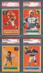1956 Topps Lot of (4) W/ #60 Moore PSA