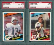 1984-91 Topps Lot of (6) Rookies W/ Favre, Dickerson, Elway & Marino PSA