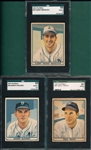 1941 Play Ball #36 McCosky, #43 Brancato & #48 Travis, Lot of (3), SGC