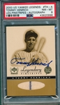 2000 UD Yakee Legends Henrich, Legendary Pinstripes, Autograph, PSA 8
