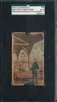 1890 N281 American Scenes with Policeman, Coney Island, Buchner, SGC 10